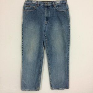 Eddie Bauer Mens W38 x L30 Relaxed Fit Blue Jeans
